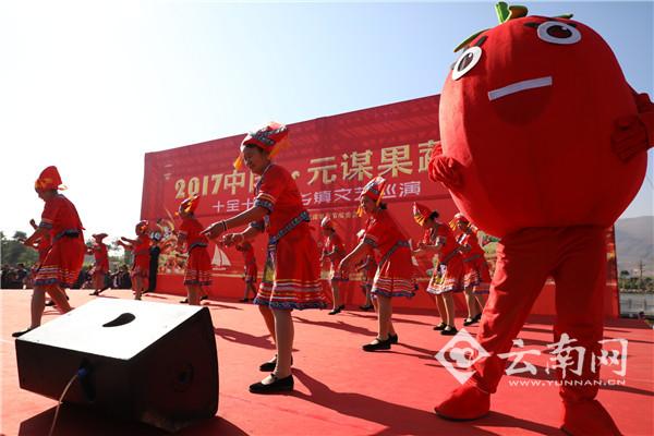 """北京赛车微信群:果蔬""""明星""""引关注_2017中国・元谋果蔬节开幕"""